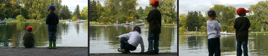 Boys Fishing at Time Out To Fish Pond