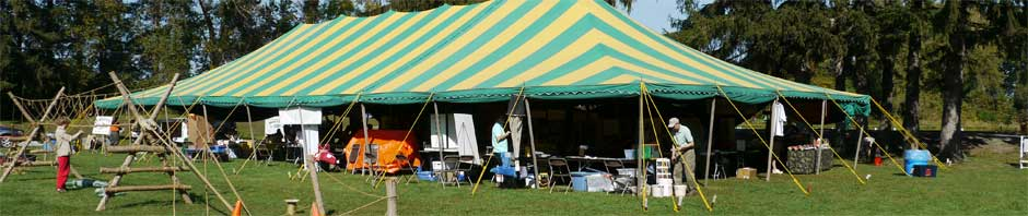 Vendor Tent at Sportsmen's Days