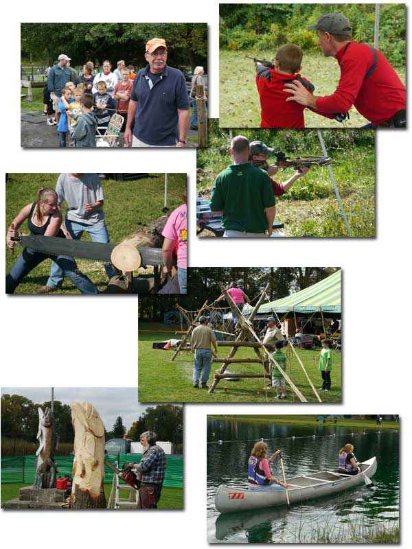 Collage of pictures from Sportsmen's Days at the Hatchery