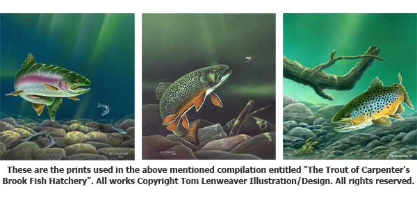 Tom Lenweaver's Collage of Trout